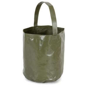 China Grey PVC waterproof Shopping basket bag 10L Volumen Foldable Bucket on sale
