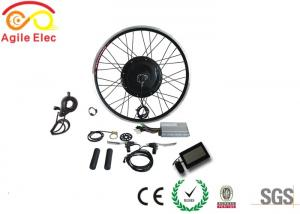 China Black Gearless 48V 1000W Hub Motor Kit For Fat Tire Ebike CE Certificated on sale