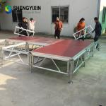 High quality aluminum concert event stage mobile stage mobile folding portable stage for wedding