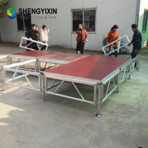 China High quality aluminum concert event stage mobile stage mobile folding portable stage for wedding on sale