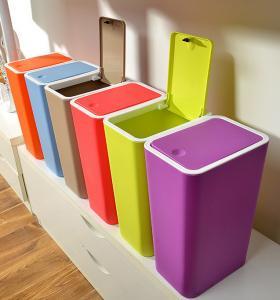 China Creative home kitchen bathroom press dust waste litter garbage storage box trash can rubbi on sale