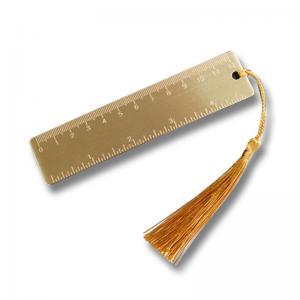 China Portable Retro Custom Brass Bookmarks Small Copper Ruler / Tool Scale Design on sale