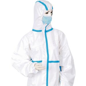 China Disposable Microporous Coverall with Ce/FDA Certificate/White Non-Woven Coverall Gowns on sale