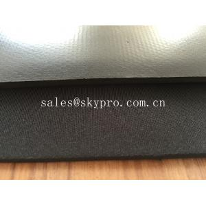 China Petit pain en caoutchouc de feuille du néoprène de mousse de latex stratifié avec le tissu de nylon ou de polyester on sale
