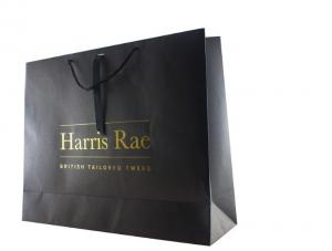 China High End Promotional Paper Bags , Twisted Handle Custom Printed Carrier Bags on sale
