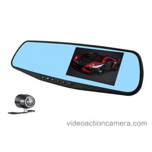 China Rearview Mirror Dvr Road Dash Video Camera With Parking Mode , 12 Million Pixels on sale