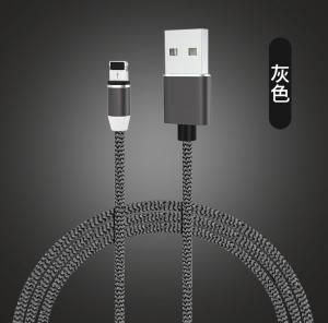 China Magnetic USB Data Cable Braided 2.4A Fast Charging / Type C Cable Phone Charger Accessories on sale