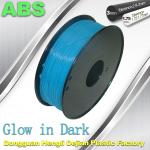 OEM Glow In The Dark 3d Printer Filament Consumables Material  1.75mm ABS Filament