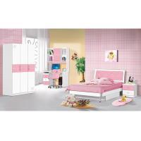 Popular Pink Children Bedroom Furniture Sets 1.2 Meters Width Bed Simple Design