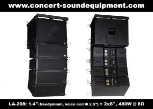 China 480W Compact Double 8 Line Array Speaker For Installation , Church , Conference, Nightclub on sale