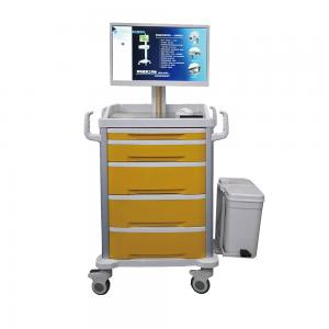 China Disposable Computer Workstation Trolley ABS Integrated Mobile Information Nursing Vehicle on sale