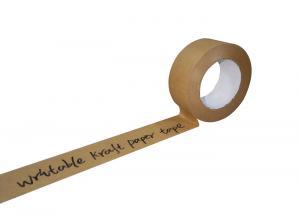 China Eco- Friendly Writable Custom Logo Printing Kraft Paper Gummed Tape on sale