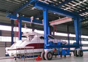China High Performance Harbour Portal Crane , 100 Ton Boat Hoist Lifting Shipyard Crane on sale