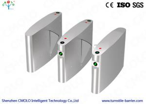 China Half Height Rfid Glass Flap Barrier Turnstile Security Gate on sale