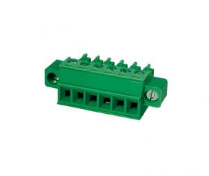 China Plugable Terminal Block Connector CPT 3.81mm Pitch 1*10P Green PA66 SN Plated 30-16AWG on sale