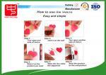 Le Velcro rouge pointille la belle taille adaptée aux besoins du client de la forme 30mm de coeur de corrections auto-adhésives de Velcro
