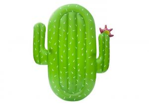 China Green Inflatable Cactus Floating Island / Inflatable Swim Pool Raft For All Ages on sale