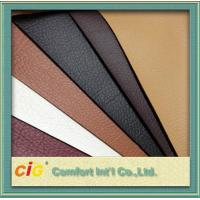 Red Brown Orange Polyurethane Synthetic Leather Fabric 100gsm-1000gsm