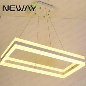 China rectangle big crystal chandelier for hotel Luxury rectangle hotel chandelier modern hanging lighting on sale