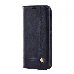 China Oily Vintage Leather Huawei P10 Flip Cover , Retro Line Huawei Flip Cover on sale
