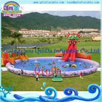 Inflatable Aqua Park , Above Ground Portable Water Park Infltable Slide with Pool