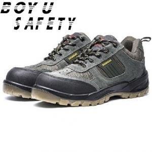 China Cheap Wholesale Microfiber Leather Rubber Outsole Anti-skid Working Safety Shoes on sale