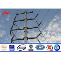 AWS D1.1 Hot Dip Galvanized Power Transmission Poles For Electrical Line Project