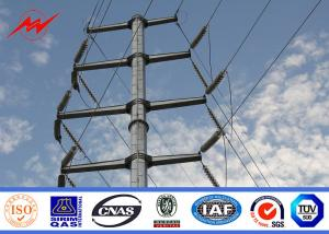 China AWS D1.1 Hot Dip Galvanized Power Transmission Poles For Electrical Line Project on sale
