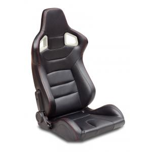 Quality Automobile Universal Sport Racing Seats Carbon Look Red Stitching  With Double Or Single Slider for sale