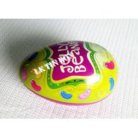 Egg Shaped Jelly Bean Tin Can For Easter Holiday , Decorative Tin Boxes