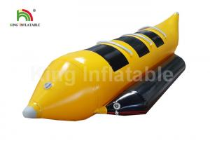 China Commercial Grade Yellow 3 Seats Inflatable Fly Fishing Boats / Banana Boat Towable on sale
