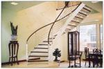 indoor carton steel frame modern design curved arc staircase stairs