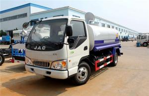 China JAC 4x2 5000 Liters Water Sprinkler Tank / Carbon Steel Water Transport Truck on sale