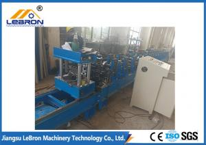 China PLC Control Automatic Hydraulic Cut Storage Rack Roll Forming Machine Durable Quality on sale