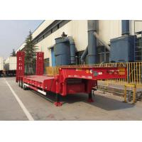 China Loading Construction Machines Hydraulic Flatbed Trailer 3 Axles 80 Tons 17m on sale