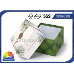 Superficie ULTRAVIOLETA del punto rígido de la caja de regalo de la cartulina de la impresión de la tapa delicada del diseño/del papel bajo