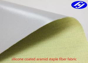 China Para Aramid Staple Fiber Fabric Coated One Side Silicone For Welding Robot on sale