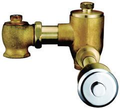 China Concealed Brass Wall-Mounted Self-Closing Toilet Flush Valves Timing Control on sale