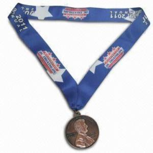 China Rohs Custom Sports Medals Graduation Dance St Benedict Blank Insert Type With Lanyard on sale