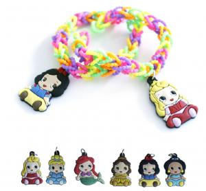 China DIY Fashion PVC/Silicone Pearl Elastic Ring bracelet with Lovely Charms on sale