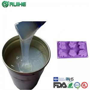 China Rtv2 Molding Liquid Silicone Rubber Raw Material To Concrete Mold Good Resilience on sale