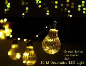 China 10 Meter Starry Fairy Copper String LED light Waterproof  Decorative lamp Party Stage Bulb TL108 on sale