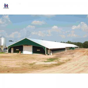 China Prefab Light Steel Structure Layer Chicken Poultry Farm House Construction Shed on sale