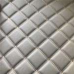 Embroidery PU PVC Artificial Leather With Foam For Car Seat Car Floor