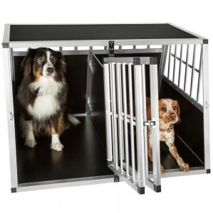 China Dog Cage Kennel Large Extra Large Aluminum Metal Pets Kennel Car Transport Crate  ZX104B on sale