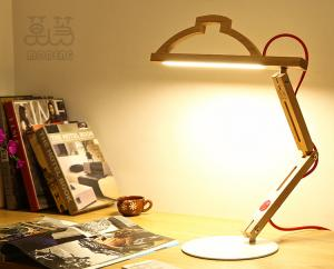 China Simple style handmade wood desk lamps office lamp/ study room lamp mfga on sale