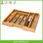 Cajón extensible multifuncional de bambú puro Organizer/HOMEX-FSC/SGS/FDA/LFGB/BSCI