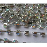 China chain stones /cup chain glass stones crystal AB on sale