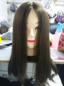 China Qingdao Supplier 100% European 100% Cuticle Virgin Hair Kosher Wigs Silky Straight on sale