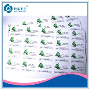 China Scratch Card Stickers , Glossy Security Stickers For Computers / Stationery on sale